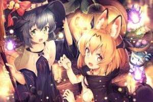 Rating: Safe Score: 28 Tags: animal_ears animal_ears_(artist) halloween kaban_(kemono_friends) kemono_friends serval tail witch User: Mr_GT
