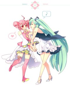 Rating: Safe Score: 13 Tags: epd hatsune_miku kasane_teto thighhighs utau vocaloid User: Radioactive