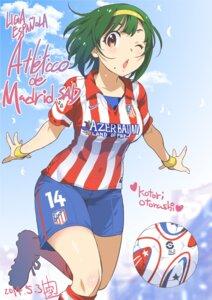 Rating: Safe Score: 32 Tags: inoue_sora otonashi_kotori soccer the_idolm@ster User: ferkunxd