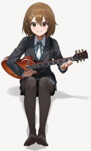 Rating: Safe Score: 22 Tags: feet guitar hirasawa_yui k-on! mossi pantyhose seifuku skirt_lift User: Mr_GT