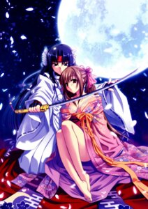 Rating: Safe Score: 20 Tags: akaiito cleavage hal hatou_kei kimono senba_uzuki success sword User: blooregardo