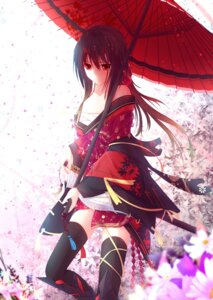Rating: Safe Score: 81 Tags: horns japanese_clothes kimono nagishiro_mito thighhighs User: KazukiNanako