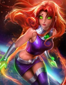 Rating: Questionable Score: 41 Tags: sakimichan starfire teen_titans thighhighs User: sylver650