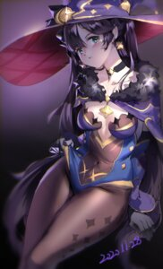 Rating: Questionable Score: 17 Tags: genshin_impact leotard mona_(genshin_impact) nicholas_f no_bra pantyhose witch User: BattlequeenYume