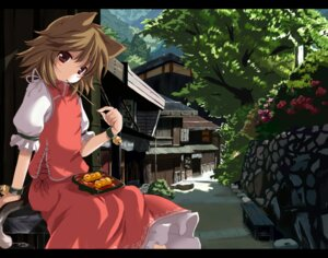 Rating: Safe Score: 20 Tags: animal_ears chen nejime nekomimi tail touhou User: Kovash