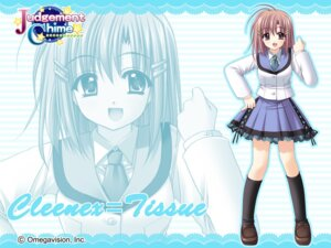Rating: Safe Score: 8 Tags: cleenex_tissue judgement_chime nishimata_aoi wallpaper User: Sayuka