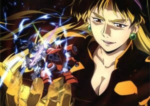 Rating: Safe Score: 9 Tags: cleavage gundam mecha sword uso_evin v2_gundam victory_gundam weapon User: drop