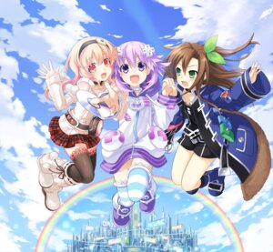 Rating: Safe Score: 55 Tags: choujigen_game_neptune compa compile_heart dress if_(choujigen_game_neptune) neptune thighhighs tsunako User: Kaput