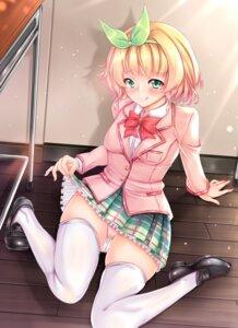 Rating: Questionable Score: 33 Tags: kawaikereba_hentai_demo_suki_ni_natte_kuremasu_ka? koga_yuika pantsu seifuku shiki2046 skirt_lift thighhighs User: hiroimo2