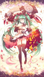 Rating: Safe Score: 40 Tags: dress hatsune_miku phino thighhighs vocaloid User: KazukiNanako