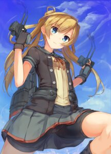 Rating: Safe Score: 62 Tags: abukuma_(kancolle) bike_shorts gun kantai_collection ruma_imaginary seifuku User: Mr_GT