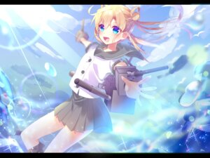 Rating: Safe Score: 26 Tags: abukuma_(kancolle) kantai_collection mafuyu_(chibi21) seifuku weapon User: charunetra