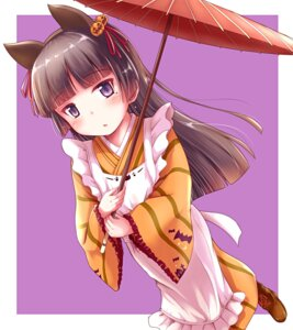 Rating: Safe Score: 25 Tags: animal_ears gokou_ruri halloween herunin maid nekomimi ore_no_imouto_ga_konnani_kawaii_wake_ga_nai umbrella wa_maid User: aaayu