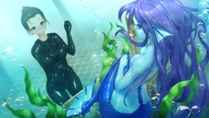 Rating: Questionable Score: 14 Tags: bodysuit mermaid monster_girl tagme tail topless User: Arkon