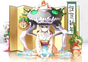 Rating: Safe Score: 20 Tags: emerane kantai_collection kimono northern_ocean_hime wo-class_aircraft_carrier User: Mr_GT