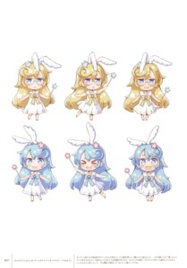 Rating: Safe Score: 15 Tags: animal_ears bunny_ears chibi dress megane new_game! tagme tokunou_shoutarou User: Twinsenzw