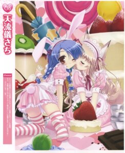 Rating: Safe Score: 28 Tags: amarugi_sachi animal_ears bunny_ears cream dress thighhighs User: androgyne