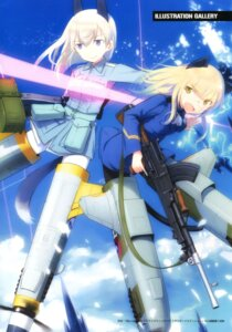 Rating: Safe Score: 11 Tags: animal_ears eila_ilmatar_juutilainen gun pantyhose perrine-h_clostermann shimada_humikane strike_witches tail uniform User: Radioactive