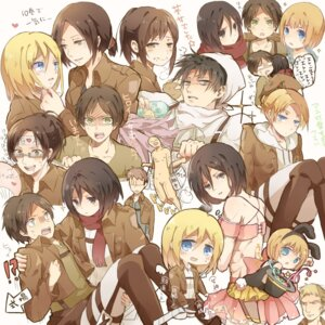 Rating: Safe Score: 9 Tags: animal_ears annie_leonhardt armin_arlelt bunny_ears chibi christa_lenz eren_jaeger hiyoko_(artist) megane mikasa_ackerman sasha_browse shingeki_no_kyojin sword uniform ymir_(shingeki_no_kyojin) User: dyj
