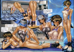Rating: Questionable Score: 11 Tags: ass cream cyril_brooklyn erect_nipples feet marina_hayami shirow_masamune swimsuits User: Blindseer