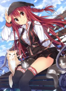 Rating: Safe Score: 48 Tags: kuwashima_rein neko thighhighs User: fireattack