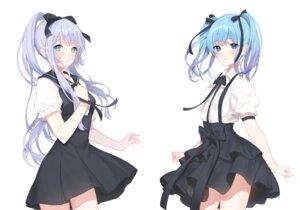 Rating: Safe Score: 42 Tags: a20_(atsumaru) breast_hold seifuku skirt_lift User: BattlequeenYume