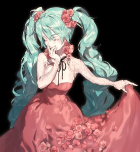 Rating: Safe Score: 30 Tags: cleavage dress hatsune_miku ozyako0 skirt_lift vocaloid User: charunetra