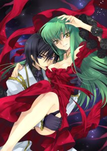 Rating: Questionable Score: 35 Tags: c.c. cleavage code_geass dress lelouch_lamperouge pantsu rangetsu User: Radioactive
