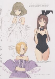 Rating: Questionable Score: 16 Tags: animal_ears bunny_ears bunny_girl cleavage dress nitta_minami oyari_ashito shirasaka_koume shoujo_kishidan sketch takagaki_kaede the_idolm@ster the_idolm@ster_cinderella_girls User: Radioactive