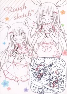 Rating: Safe Score: 4 Tags: animal_ears bunny_ears chibi maid pan pan_no_mimi sketch thighhighs User: kiyoe