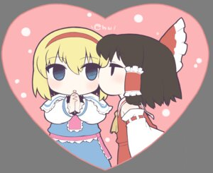 Rating: Safe Score: 7 Tags: alice_margatroid chibi hakurei_reimu touhou ume_noraneko yuri User: Radioactive