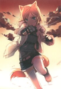 Rating: Safe Score: 48 Tags: animal_ears gun h2so4 island_of_horizon paper_texture tail thighhighs User: Aurelia