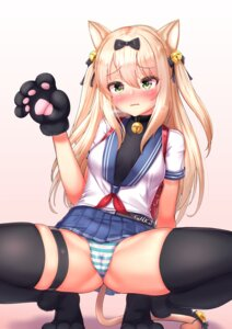 Rating: Questionable Score: 42 Tags: animal_ears cameltoe garter girls_frontline gmkj nekomimi pantsu seifuku shimapan tail thong tmp_(girls_frontline) User: Mr_GT