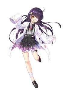 Rating: Safe Score: 50 Tags: ashizuri_akari bandages eyepatch garter onsen_musume seifuku yano_mitsuki User: saemonnokami