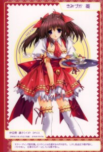 Rating: Safe Score: 13 Tags: berry's garter izuno_youko kimizuka_aoi thighhighs waitress User: Kamisama