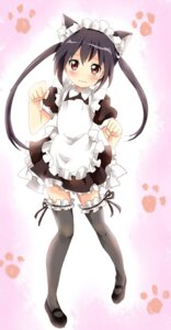 Rating: Safe Score: 33 Tags: animal_ears k-on! maid nakano_azusa nekomimi punchiki User: yumichi-sama