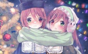 Rating: Safe Score: 16 Tags: christmas heterochromia rozen_maiden souseiseki suiseiseki tagme User: charunetra