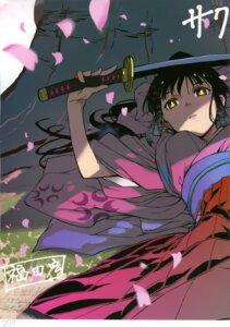 Rating: Safe Score: 10 Tags: fukuda_hiroshi japanese_clothes sakura_taisen shinguuji_sakura sword User: Radioactive