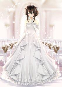 Rating: Safe Score: 23 Tags: dress kantai_collection shigure_(kancolle) uzuki_tsukuyo wedding_dress User: Mr_GT