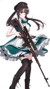 Rating: Safe Score: 40 Tags: gun maid sinsihukunokonaka thighhighs uesaka_sumire User: mash