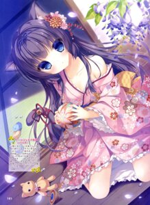 Rating: Questionable Score: 97 Tags: animal_ears nekomimi open_shirt tail yukata yukie User: drop
