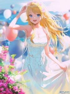 Rating: Safe Score: 41 Tags: dress hachimiya_meguru no_bra skirt_lift spung summer_dress the_idolm@ster the_idolm@ster_shiny_colors User: Mr_GT