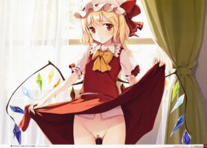 Rating: Explicit Score: 49 Tags: bandaid flandre_scarlet ke-ta loli maebari nopan pussy_juice skirt_lift touhou wings User: Radioactive