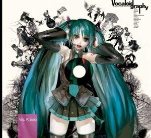 Rating: Safe Score: 6 Tags: hatsune_miku headphones thighhighs tomape vocaloid User: fireattack