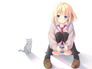 Rating: Safe Score: 56 Tags: kinta_(distortion) neko pantsu seifuku wallpaper User: fairyren