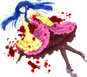 Rating: Safe Score: 9 Tags: blood furudo_erika gun lolita_fashion tsuyukusa_rui umineko_no_naku_koro_ni User: 洛井夏石