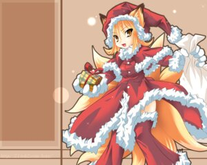 Rating: Safe Score: 7 Tags: christmas kazami_karasu kitsune touhou wallpaper yakumo_ran User: Shamensyth