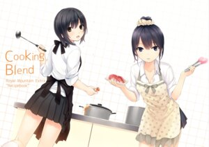 Rating: Safe Score: 60 Tags: aoyama_sumika cleavage coffee-kizoku seifuku shiramine_rika User: Mr_GT