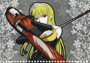 Rating: Safe Score: 9 Tags: blood chainsaw dress hime kaibutsu_oujo mitsunaga_yasunori sword User: devastatorprime