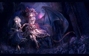 Rating: Safe Score: 37 Tags: archlich izayoi_sakuya remilia_scarlet touhou wallpaper wings User: yumichi-sama